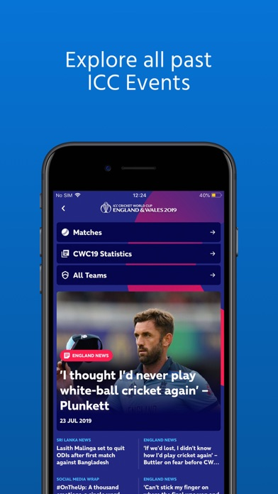 Screenshot for ICC Cricket in United Arab Emirates App Store