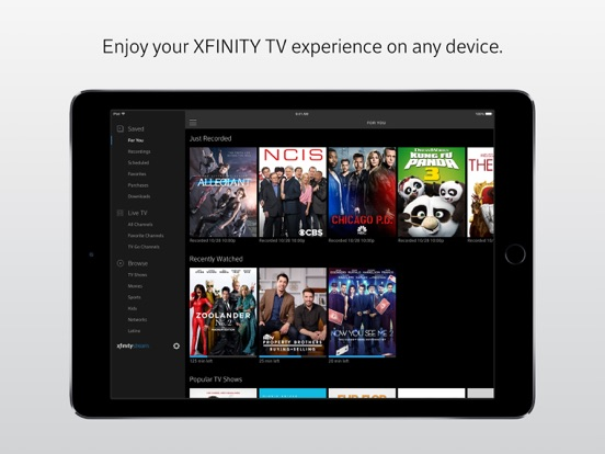 Xfinity Stream by Comcast (iOS, United States) - SearchMan