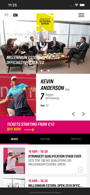 ‎Millennium Estoril Open Screenshot