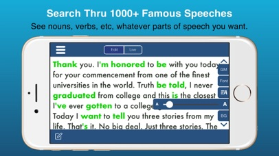 Public Speaking Teleprompter Screenshots