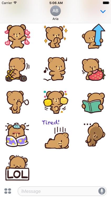 Cool Bear Mocha Daily Emoji screenshot-3