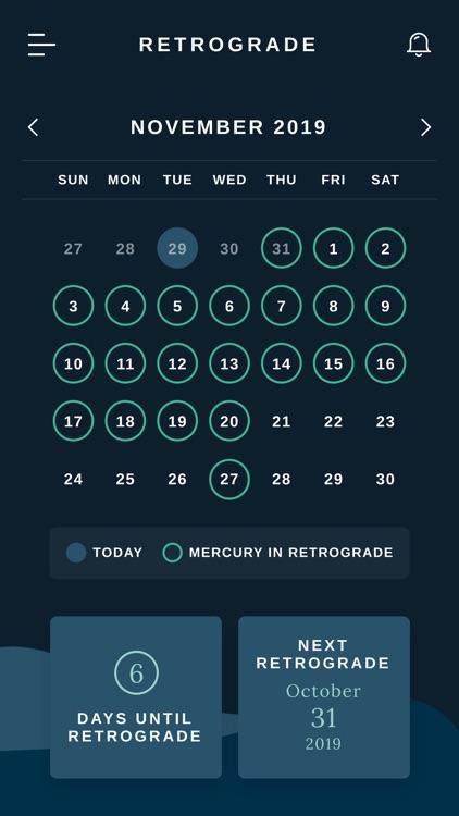 Retrograde - Tracking Mercury