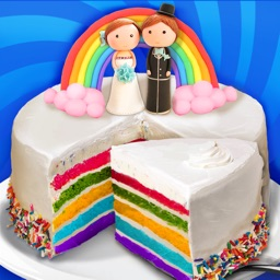 Wedding Rainbow Cake