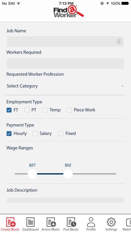 Find A Worker App