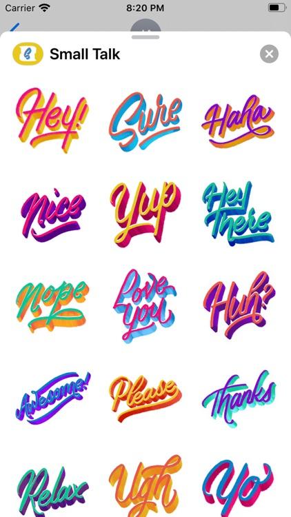 Small Talk Stickers