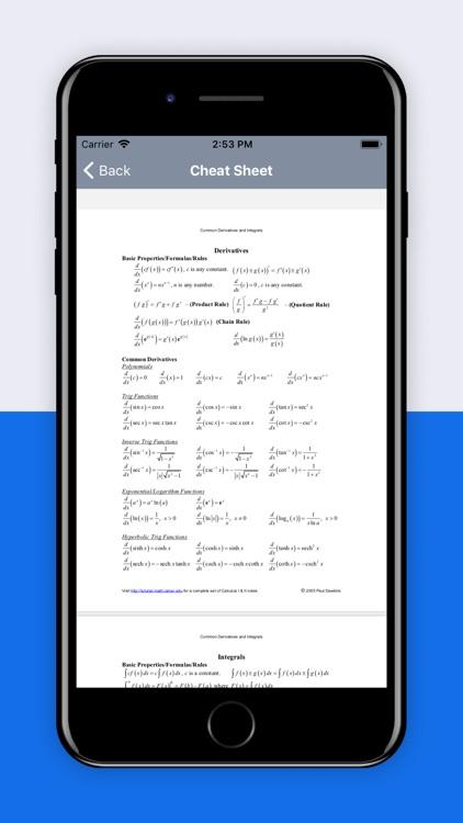 Scientific Calculus Calculator screenshot-4
