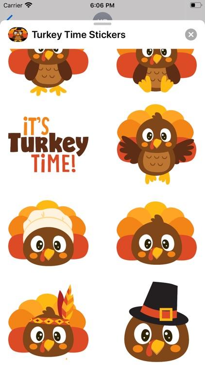 Turkey Time Stickers