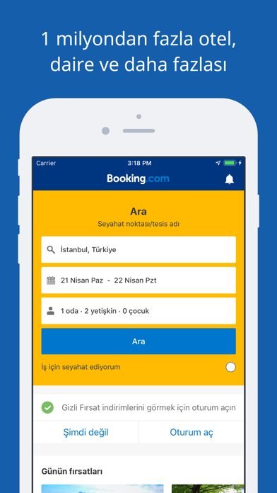 Screenshot for Booking.com Seyahat Fırsatları in Turkey App Store