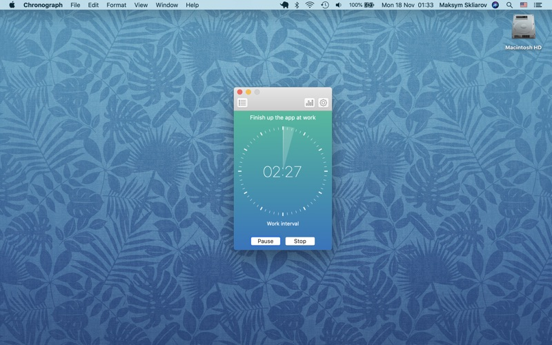 Chronograph - My Productivity for Mac