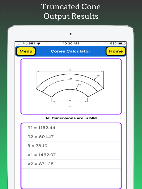Cones Calculator screenshot 15