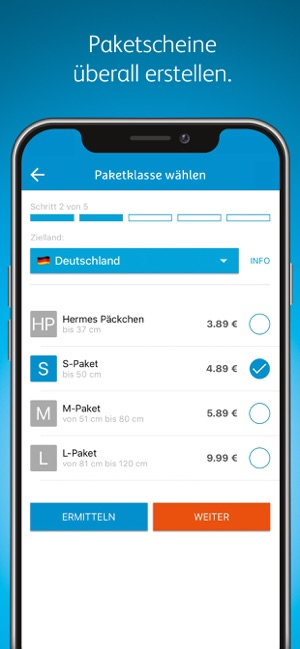 ‎Hermes Paketversand Screenshot