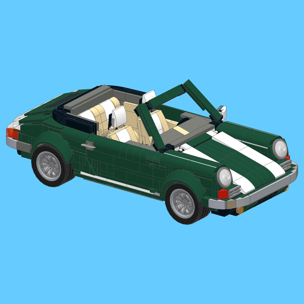 Green 911 for LEGO 10242 Set