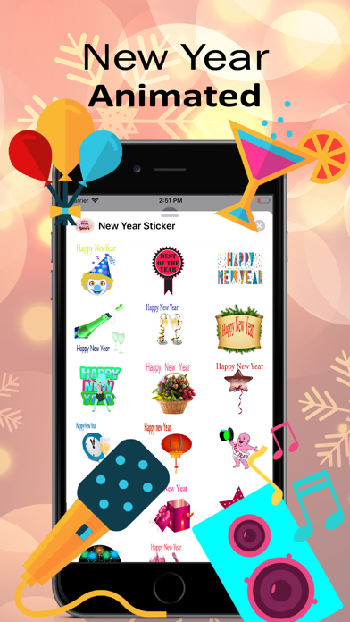 New year Animated Sticker 2020 screenshot two
