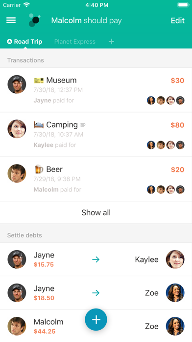 Screenshot for Settle Up - Group Expenses in United States App Store