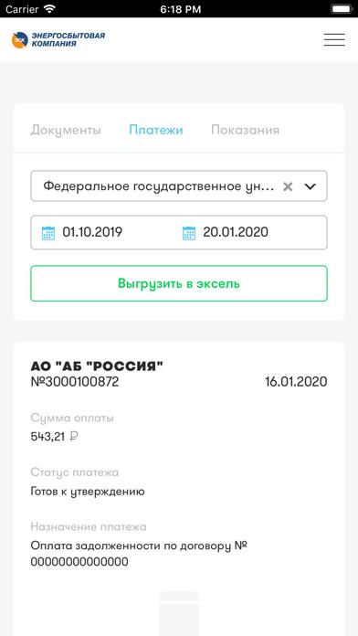 ЛКК ЮЛ ТамбовэнергосбытСкриншоты 4