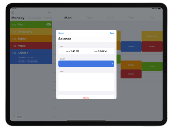 Class Timetable screenshot