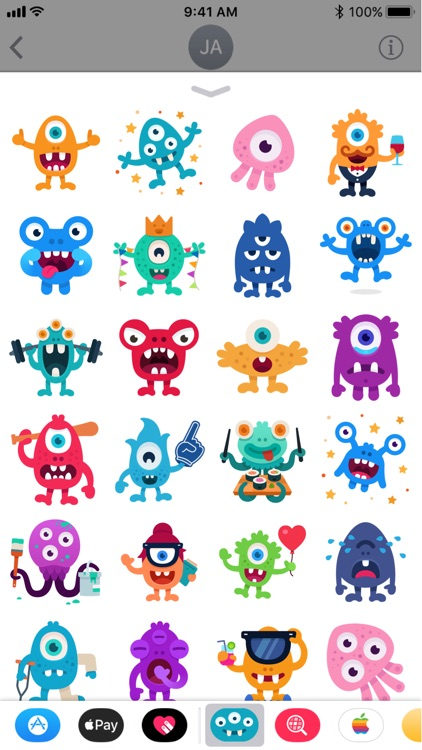 Happy Monster stickers screenshot-3