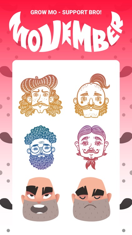 Mustache Moji Stickers Pack IM