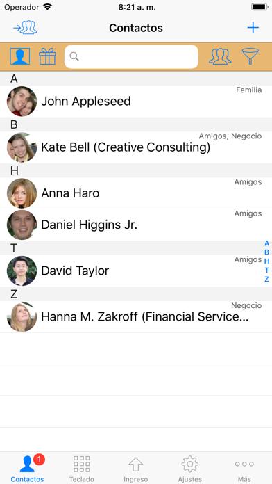 Screenshot for ContactsPro para iPad in Spain App Store