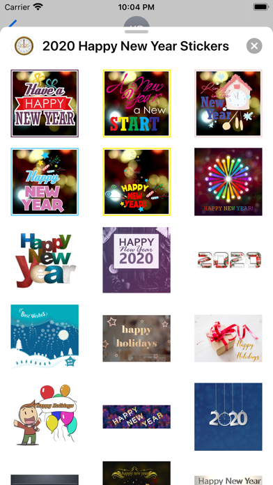 2020 Happy New Year Stickers screenshot 4