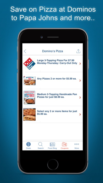 Food Coupons, Restaurants App