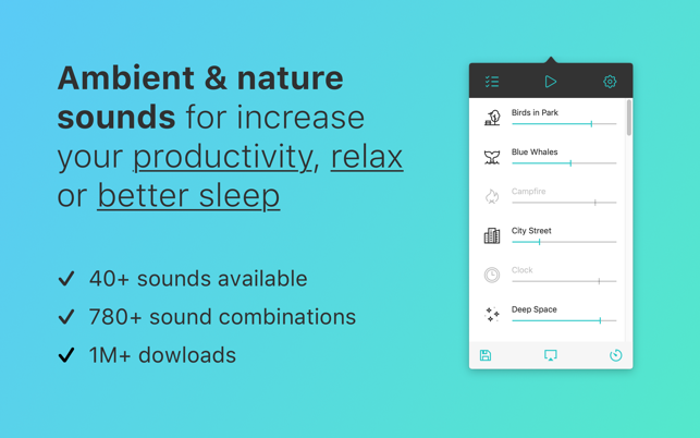 ‎Noizio — focus, relax, sleep Screenshot