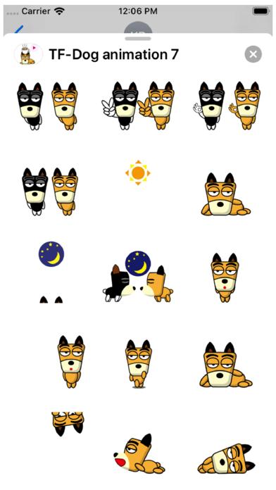 TF-Dog Animation 7 Stickers Screenshot
