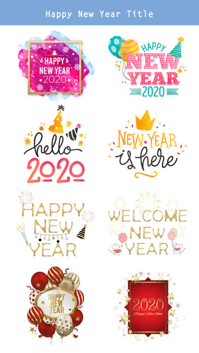 Happy New Year - 2020 Stickers screenshot 3