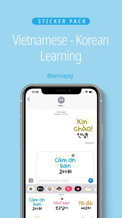 Vietnamese Korean Learning screenshot 1