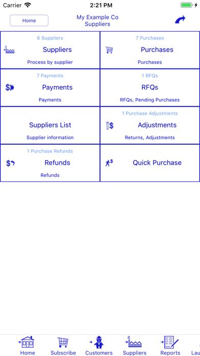 Bookkeeping review screenshots