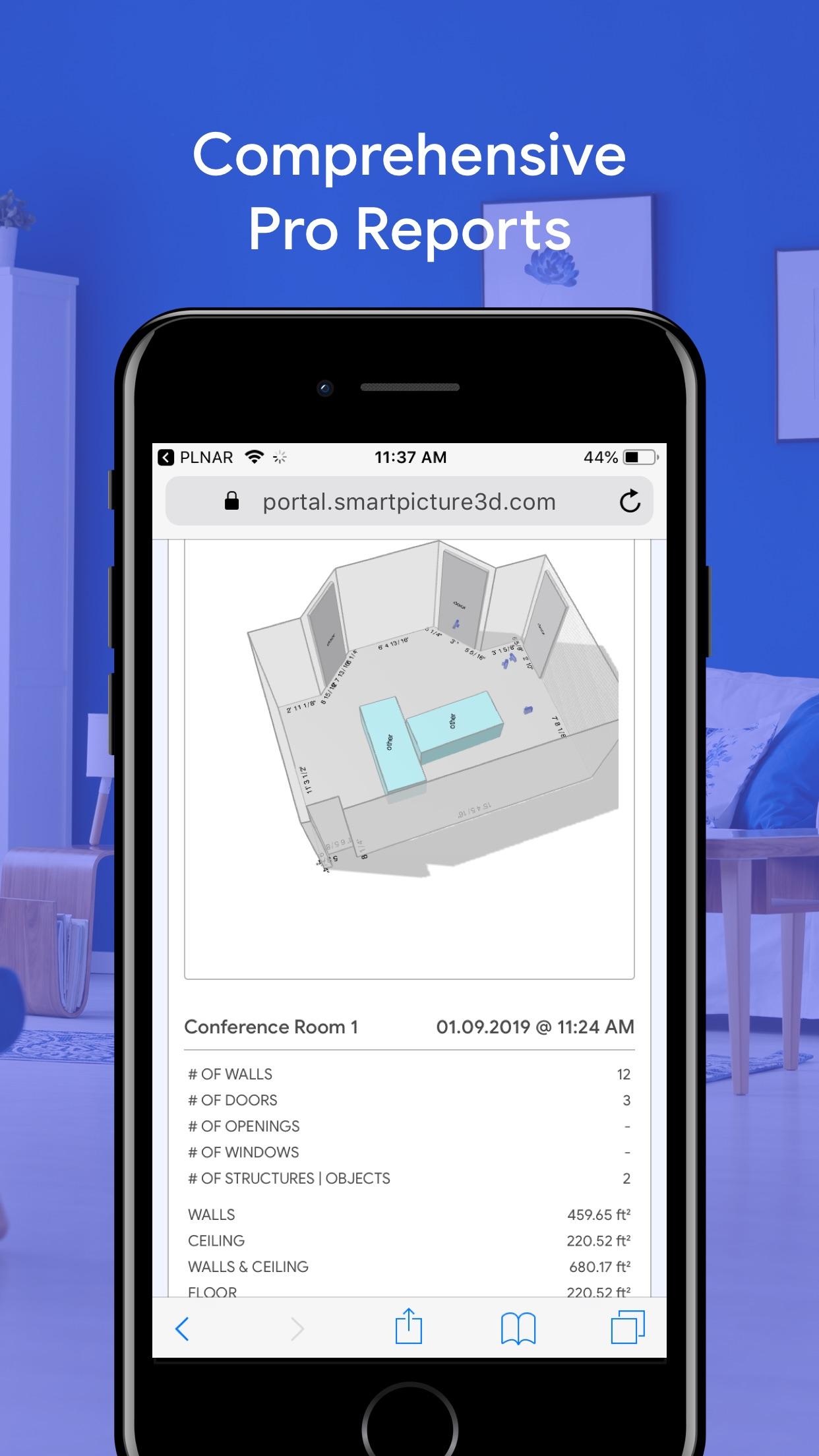 Screenshot do app PLNAR