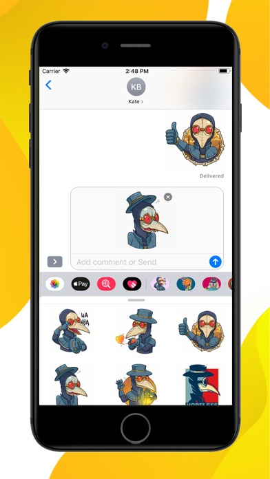 Screenshot for Plague M D Halloween Stickers in United States App Store