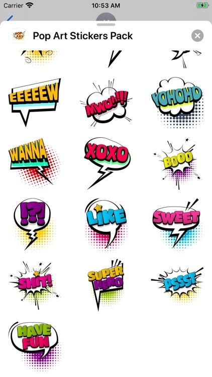 Pop Art Great Stickers Pack screenshot-3