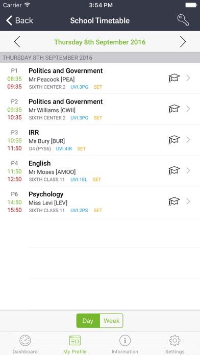 iStudent App screenshot two