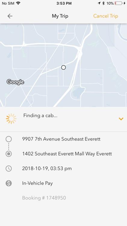 Yellow Cab of Snohomish County screenshot-3