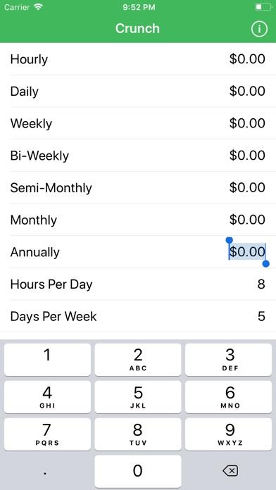 Screenshots for Crunch Salary/Wage Calculator