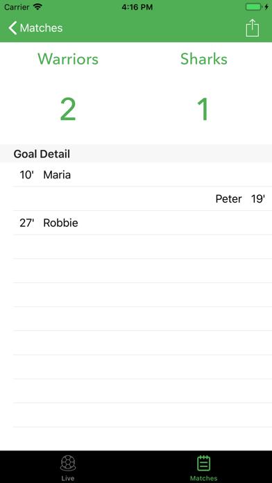 Soccer Scoreboard Track/Share screenshot 2