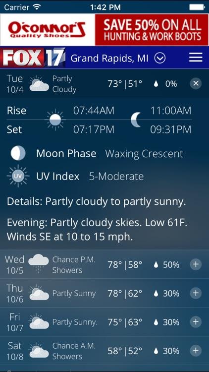 FOX17 West Michigan Weather screenshot-3