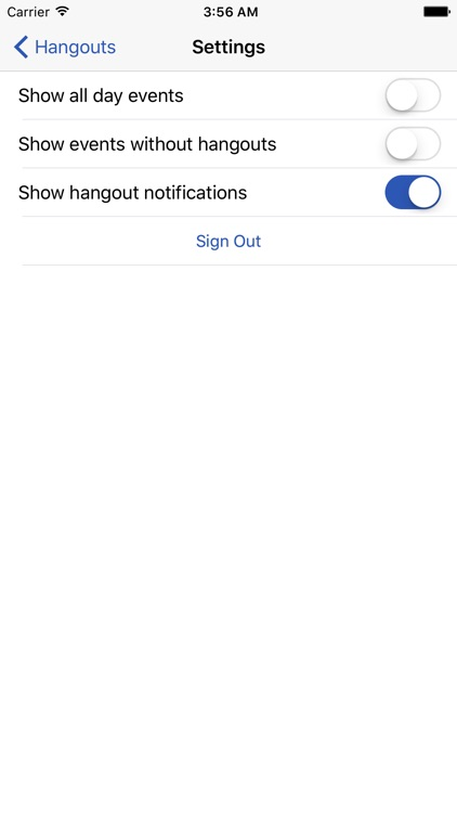 Entry for Google Meet Hangouts