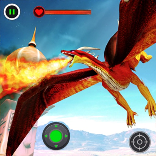 Flying Dragon Clash Simulation