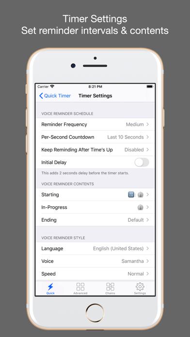 1Timer - Voice Timer Screenshots