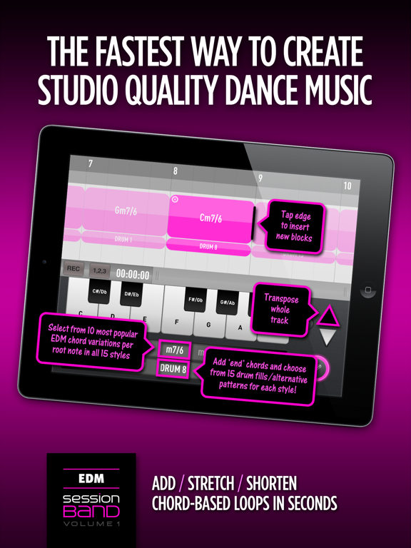 SessionBand EDM 1 IPA Cracked for iOS Free Download