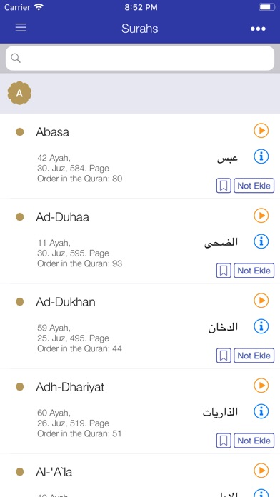 Screenshot for Kur'an-ı Kerim (Diyanet) in Turkey App Store