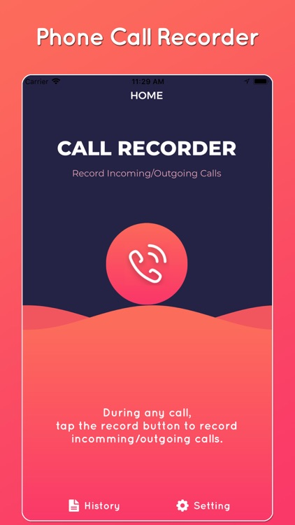 Call recorder for iPhone *
