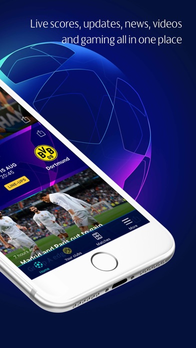 Screenshot for UEFA Champions League Official in Canada App Store