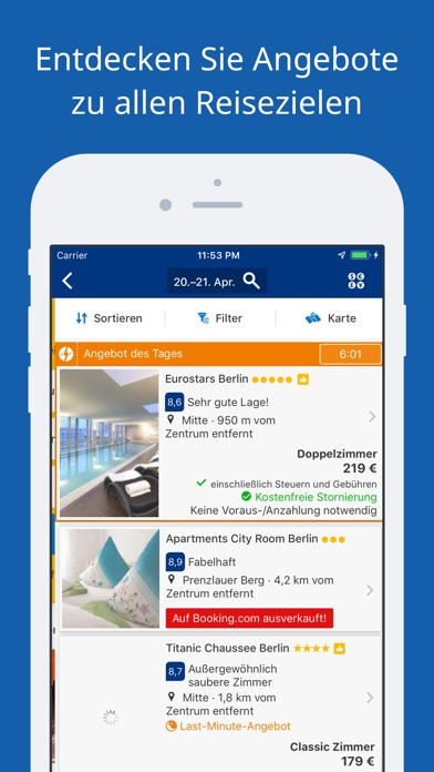 Screenshot for Booking.com-Reisedeals in Switzerland App Store