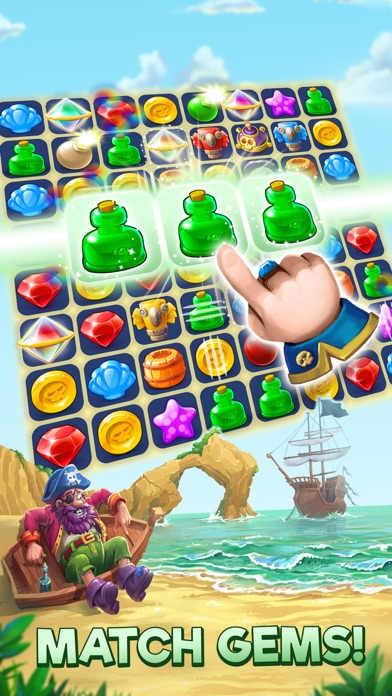 Pirates & Pearls: Match 3 Game screenshot 1