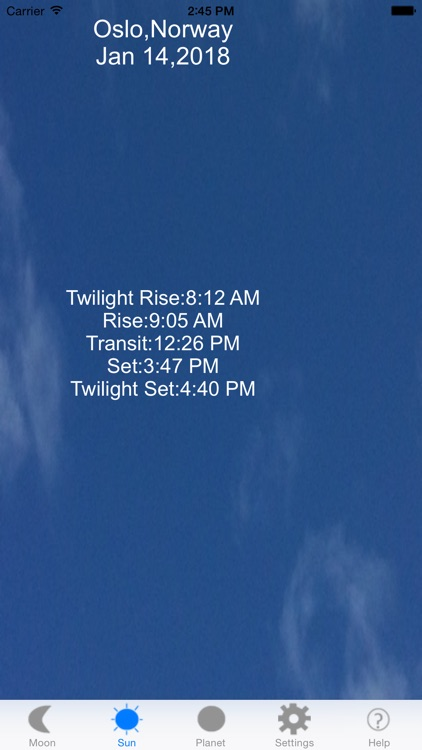 Moon Phase & Sun Rise/Set