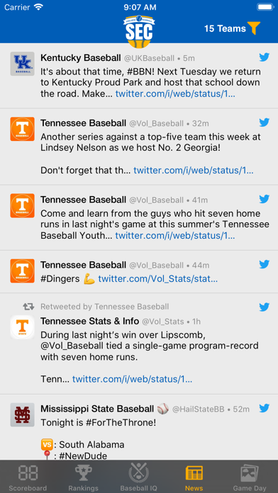 Sec Baseball review screenshots