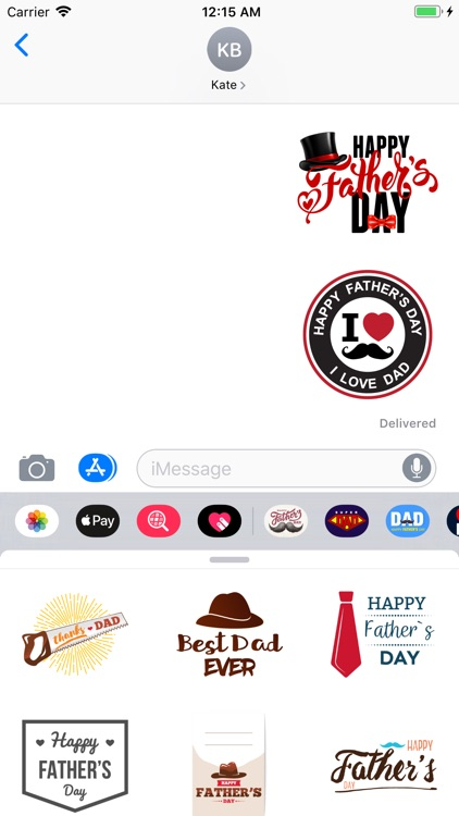 Happy Fathers Day Stickers App